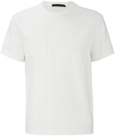 Alexander Wang Raw Edge Patched Short Sleeve Tshirt - White