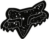 """Fox Men's Splatter - 4"""" Sticker"""