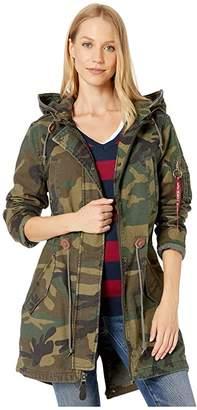 Alpha Industries Meri Fishtail Field Coat (Woodland Camo) Women's Coat