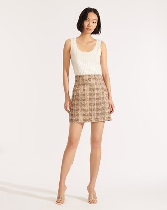 Veronica Beard Roman Tweed Skirt