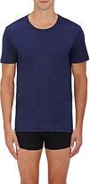 Zimmerli Men's Cotton Crewneck T-Shirt-NAVY