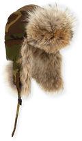 Canada Goose Coyote-Fur Aviator Hat, Black