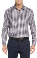 Cutter & Buck Men's Kent Jacquard Check Sport Shirt