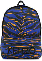 Kenzo tiger striped backpack - kids - Polyester - One Size