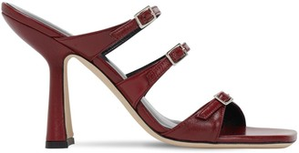 BY FAR 100mm Malene Leather Sandals