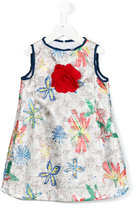 Simonetta floral print dress - kids - Polyester/Acetate/Cupro/metal - 10 yrs