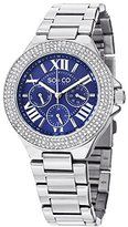 SO&CO New York Women's 5019.2 Madison Day and Date Crystal-Accented Stainless Steel Link Bracelet Watch
