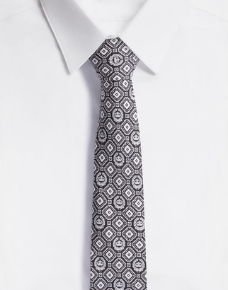 Dolce & Gabbana Diamond-Design Silk Jacquard Blade Tie (6 Cm)