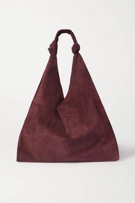 The Row Bindle Suede Shoulder Bag - Burgundy