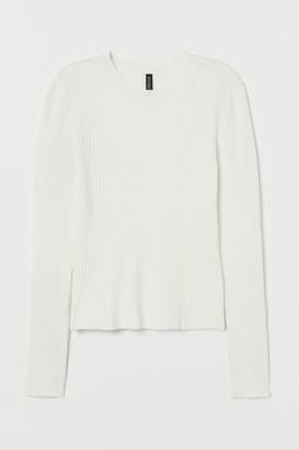 H&M Fine-knit Top - White