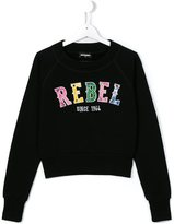 DSQUARED2 rebel embroidered sweatshirt
