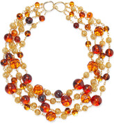 Thumbnail for your product : Ben-Amun 24-karat Gold-plated, Bead And Stone Necklace