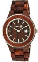 Earth Wood Eco-Friendly Cherokee Sustainable Wood Quartz Bracelet Watch, 48mm