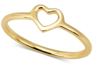 Sarah Chloe Love Count Heart Ring in 14k Gold-Plate Over Sterling Silver