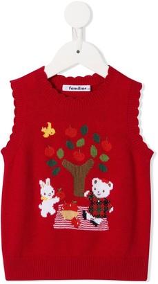 Familiar Knitted Bear Sleeveless Jumper