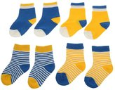 Generic 4 Pairs Baby Toddler Boys Girls Kids Cotton Socks Stripe Polka Dot Hosiery - , S