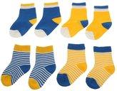 Generic 4 Pairs Baby Toddler Boys Girls Kids Cotton Socks Stripe Polka Dot Hosiery