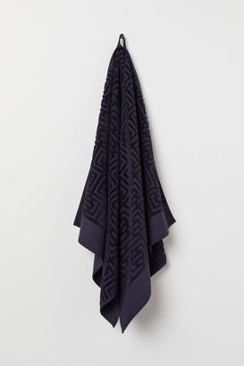 H&M Jacquard-patterned Bath Towel - Blue