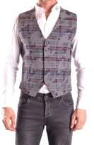 Daniele Alessandrini Men's Grey Wool Vest.