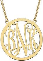 FINE JEWELRY Personalized 26mm Circle Monogram Pendant Necklace