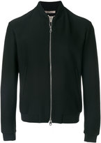 Armani Collezioni fitted bomber jacket