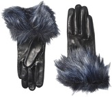Kate Spade Faux Fox Fur Short Gloves