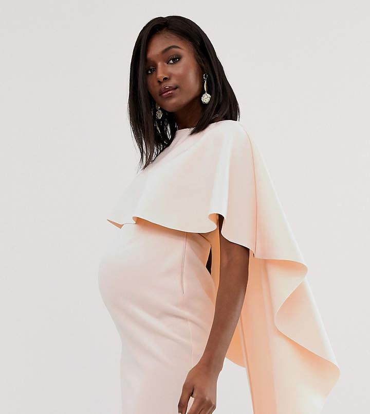 Asos DESIGN Maternity Cape Mini Scuba bodycon dress
