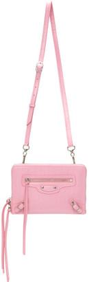 Balenciaga Pink Croc Small Neo Classic Bag