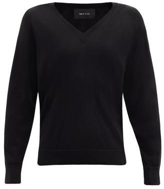Simone Rocha Faux Pearl-embellished Cut-out Wool-blend Sweater - Black