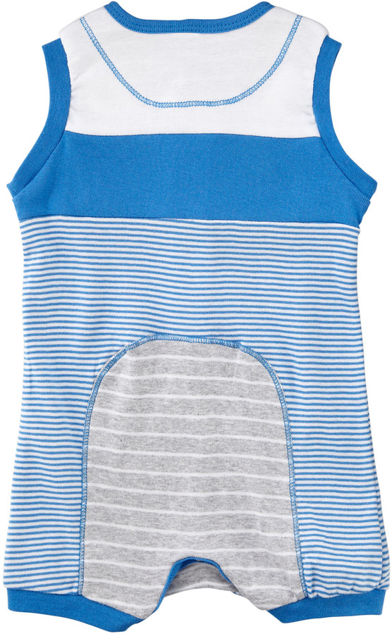 Petit Lem Mixed-Stripe Sleeveless Jumpsuit