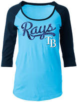 5th & Ocean Women's Tampa Bay Rays Sequin Raglan T-Shirt