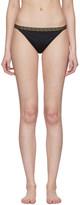 Versace Underwear Black Greek Key Bikini Bottoms
