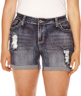 LOVE INDIGO Love Indigo Destructed Shorts - Plus