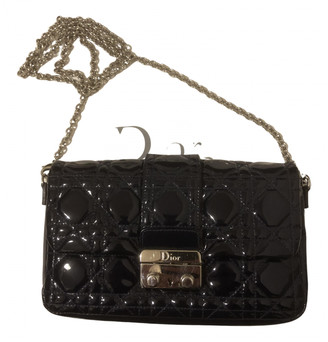 Christian Dior Miss Navy Patent leather Handbags
