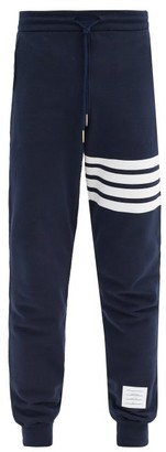 Thom Browne Striped Cotton Track Pants - Navy