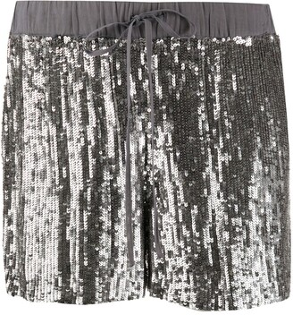 P.A.R.O.S.H. Sequinned Straight-Leg Shorts