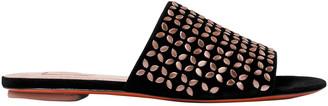 Alaia Studded Suede Slides