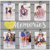 "New View Memories"" 6-Opening Photo Clip Collage Frame"