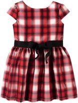 Carter's Plaid Dress with Side Bow (Toddler) - Plaid - 4T