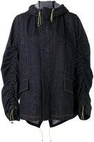 Marni gathered denim jacket - women - Cotton - 40