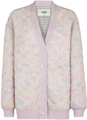 Fendi Floral Quilted Jacket