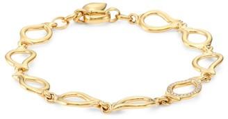 Tamara Comolli Signature Drop 18K Yellow Gold & Diamond Pave Small Bracelet