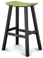 Polywood Contempo Patio Saddle Bar Stool - Black Frame