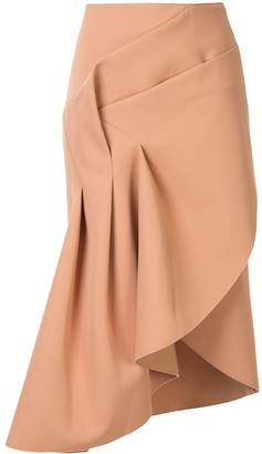 Acler Redwood draped midi skirt