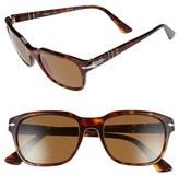 Persol Men's 53Mm Polarized Sunglasses - Havana