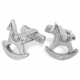 Torrini Sterling Silver Rocking Horse Cufflinks