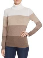 Calvin Klein Ombré Stripe Turtleneck Sweater
