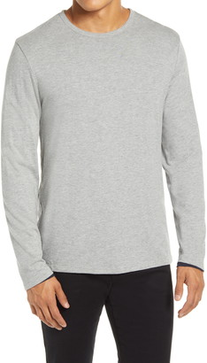 Vince Slim Fit Double Layer Long Sleeve T-Shirt