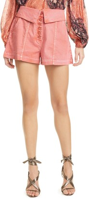 Ulla Johnson Kase Foldover Denim Shorts