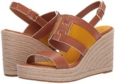 Tory Burch Ines 105 mm Wedge Espadrille (Tan/Goldfinch) Women's Shoes